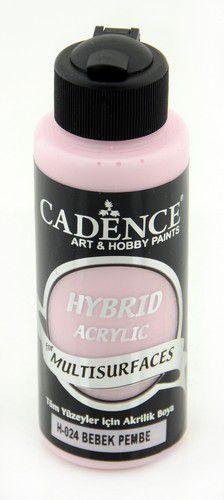 cadence hybride acrylverf semi mat baby roze 01 001 0024 0120 120 ml