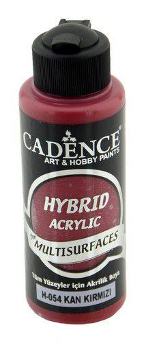 cadence hybride acrylverf semi mat bloed rood 01 001 0054 0120 120 ml