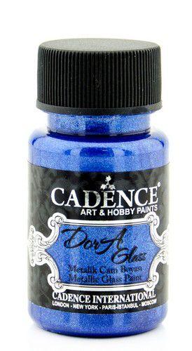 cadence dora glas porselein verf metallic sax blue 01 013 3154 0050 50 ml