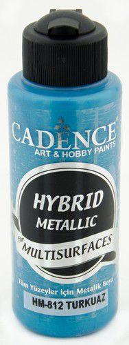 cadence peinture mtallique hybride semimat turquoise 01 008 0812 0120 120 ml 0321