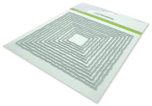 craftemotions big nesting die deckle squares card 150x160 131cm 0621