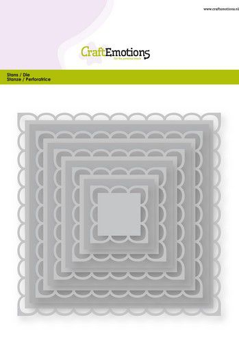 craftemotions big nesting die open squares scalop xl card 150x160 22128cm