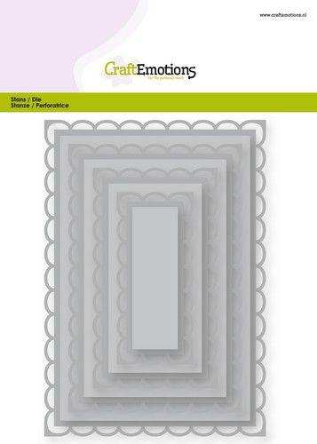 craftemotions big nesting die rectangles scalop xl open card 150x160 68150cm