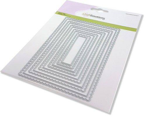 craftemotions big nesting die scalop rectangles card 150x160 scalop 8 15cm 0221