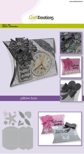 craftemotions die pillow box card a5 box 11x85cm