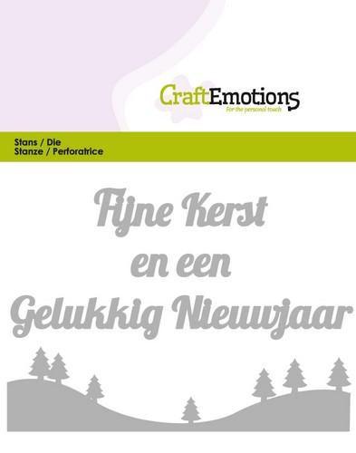 craftemotions die tekst fijne kerst nl card 11x9cm