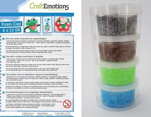 craftemotions foamball clay natural set 4 x 23gr air dry