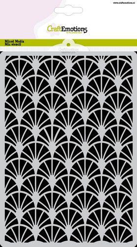 craftemotions mask stencil arcs dcoratifs art deco a5 a5 0521