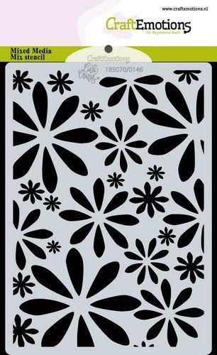 craftemotions mask stencil bugs flowers fleurs a6 carla creaties 0321