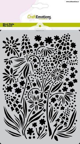 craftemotions mask stencil fleurs dt a5 a5 gb 0521
