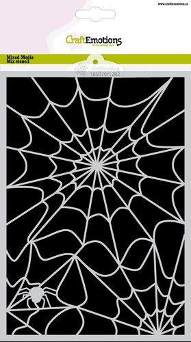 craftemotions mask stencil halloween toile daraigne a5 carla creaties 0921