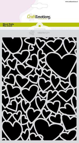 craftemotions mask stencil love puns coeur a5 carla creaties 0121