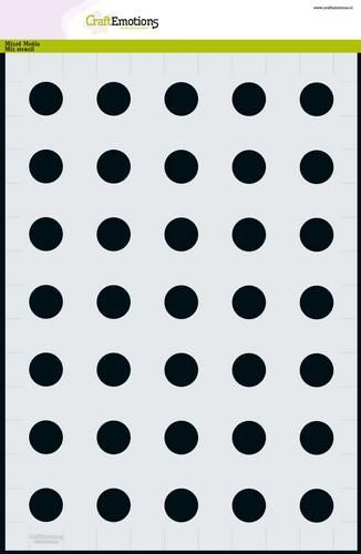 craftemotions mm mix stencil base circles 20mm a4