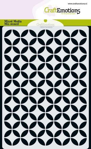 craftemotions mm mix stencil design circle decorative a6