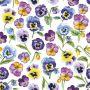 CraftEmotions napkins 5pcs - Violets 33x33cm Ambiente 13314955 (04-21)