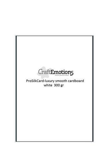 craftemotions prosilkcard carton lisse de luxe blanc 50 fl a4 300 gr