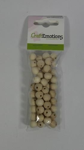 craftemotions round wooden beads natural 10mm