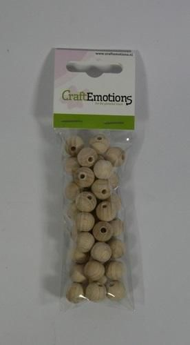craftemotions round wooden beads natural 12mm