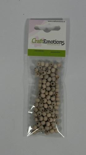 craftemotions round wooden beads natural 6mm