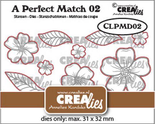 crealies a perfect match dies mix bloemen a clpmd02 31x32mm 0921