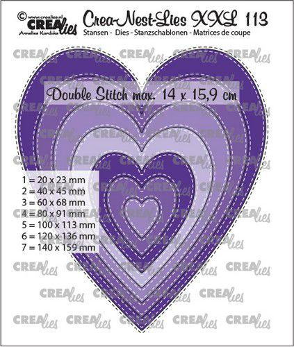 crealies creanestdies xxl slim hearts clnestxxl113 14x159cm 0521