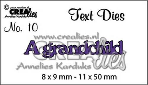 crealies text die eng nr 10 a grandchild 8x911x50mm cltd10