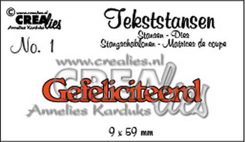 crealies text die gefeliciteerd nl clts01 9 x 59 mm