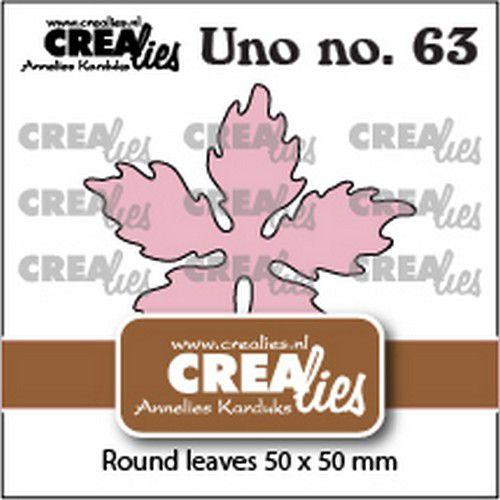 crealies uno no 63 poinsettia round leaves cluno63 50x50mm 0921