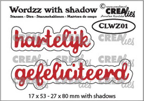 crealies wordzz with shadow hartelijk gefeliciteerd nl clwz01 22x85 mm 1020