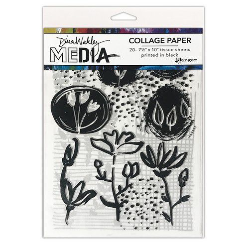 dina wakley media collage paper things that grow mda77893 dina wakley 0921