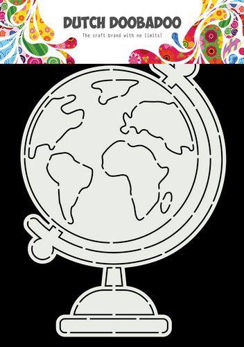 dutch doobadoo card art globe a5 470784026 0821