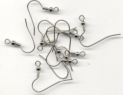 ear wire fish hook platinum 12pcs 118081421