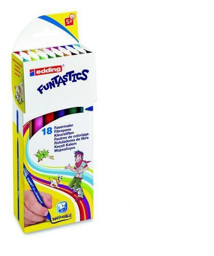 edding15 funtastics fibre pens 1mm assorti 18 colors 41518