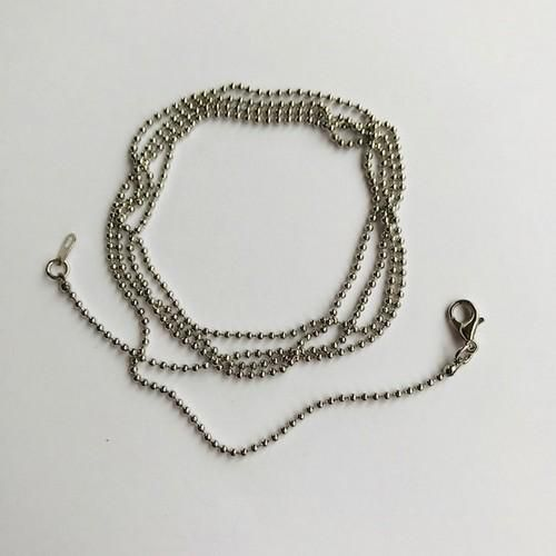 jewelry chain with lobster clasp platinum 122606001 16mmx80cm