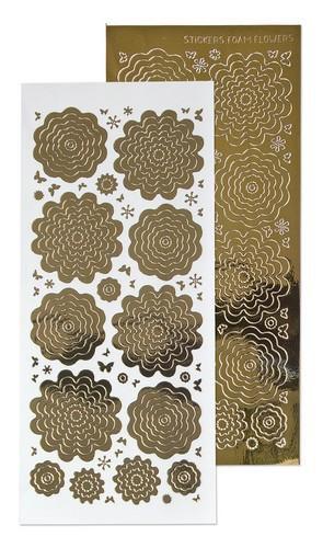 lecrea 10 stickers des fleurs 7 mirror dor 615862