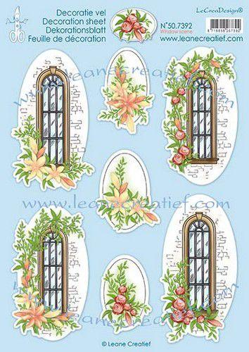 lecrea 3d decoupage sheets window scene a4 507392 0121