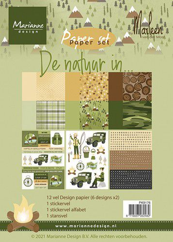 marianne d paper pad de natuur in by marleen nl pk9176 a5 0521