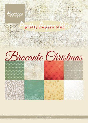 marianne d paperpad brocante christmas pk9171 a5 4x8 designs