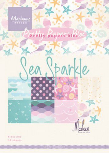 marianne d paperpad sea sparkle by marleen a5 pk9163 a5