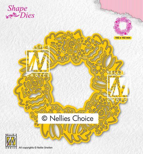 nellies choice shape die easter wreath sd188 102x102mm 0121