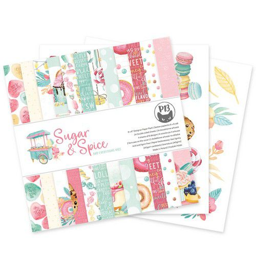 piatek13 paper pad sugar and spice 6x6 p13sas09 0621