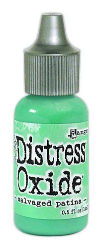 ranger distress oxide reinker 14 ml salvaged patina tdr72768 tim holtz 0521