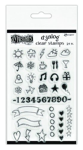 ranger dylusions dyalog clear stamp set the full package dyb65395 dyan reaveley
