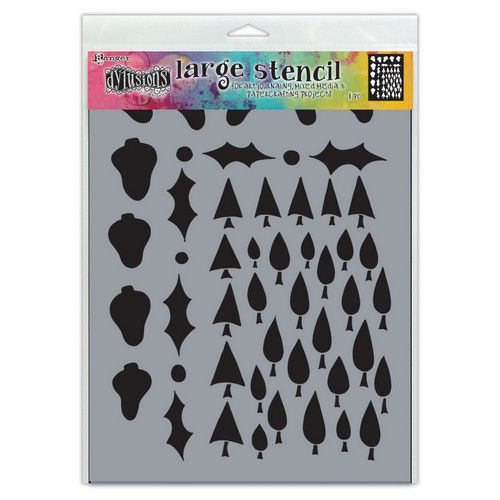 ranger dylusions stencils tree border lg dys78050 dyan reaveley 0721