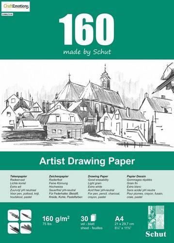 schut artist drawing paper 160 gram a4 bloc a 30 feuilles