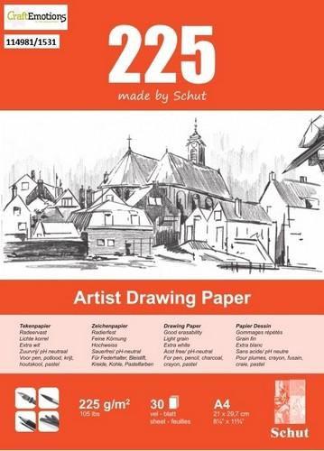 schut artist drawing paper 225 gram a4 bloc a 30 feuilles
