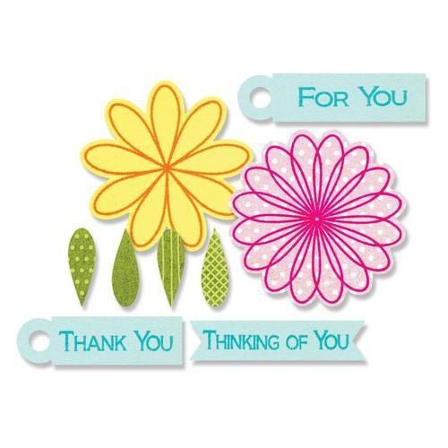 sizzix framelits die set 10pk wstamps flowers tags 659206 stephanie barnard
