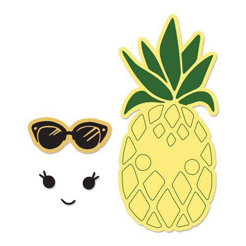 sizzix framelits die set 2pk wstamps sunny pineapple 662933 katelyn lizardi