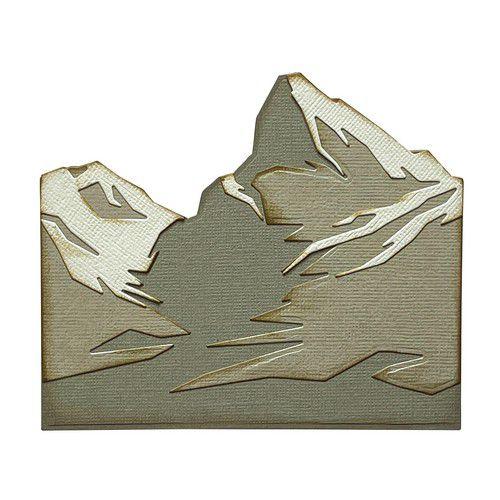 sizzix thinlits die set 6pk mountain top 665580 tim holtz 0921