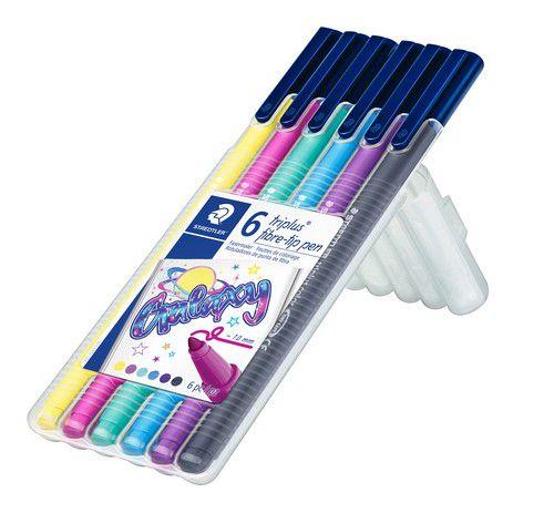 staedtler triplus color feutre box 6 pc galaxy colours 323sb6cs11